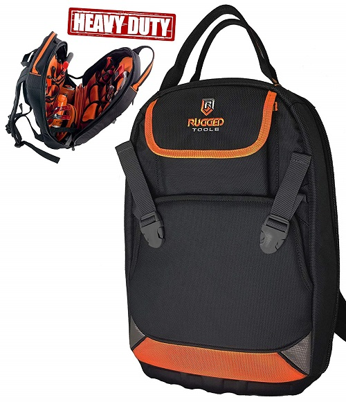 Rugged Tools Tradesman Tool Backpack